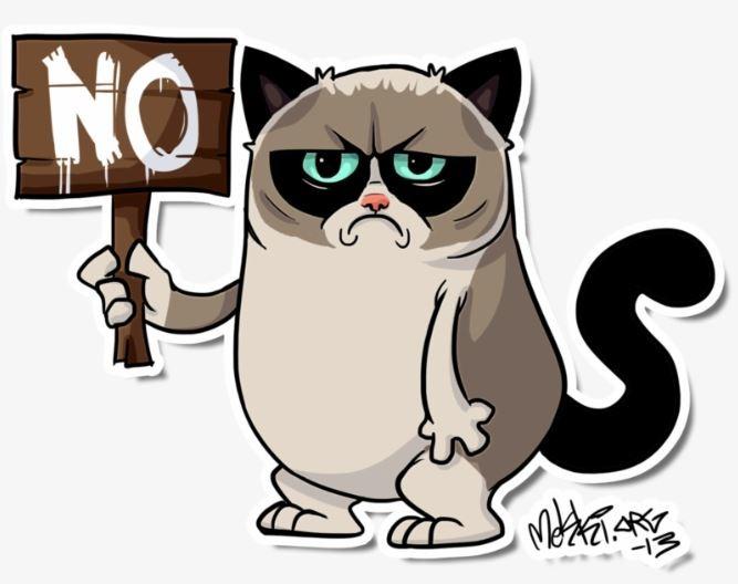 Kucing kartun Grumpy Cat lucu